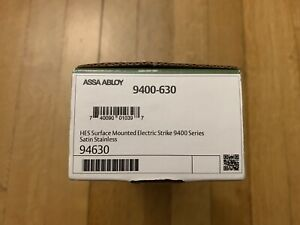 Hes 9400 12 24d 630 Electric Strike Stainless Assa Abloy Lock Sealed Brand New