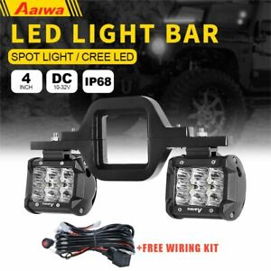 Trailer Tow Hitch Receiver Mount Bracket 4 Led Light Bar Reverse Offroad Truck