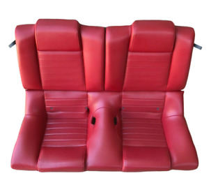 2005 2006 2007 2008 2009 Ford Mustang Gt Coupe Rear Seat Assembly Red Leather Oe