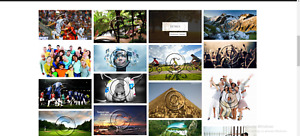 Well Designed Stock Photography Website Market Place