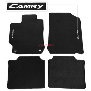 Fits 12 17 Toyota Camry Black Nylon Floor Mats Carpets W Camry Embroidery