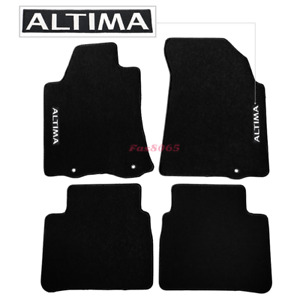 Fits 13 16 Nissan Altima Black Nylon Floor Mats Carpets W Altima Embroidery