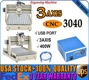 3 Axis 3040 Cnc Router Usb Engraver Engraving Milling Machine 3d Wood Cuttrer Us