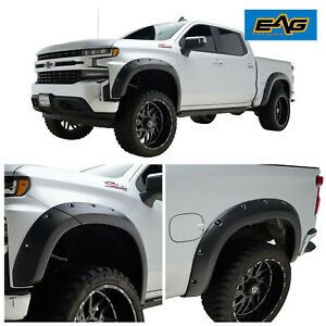 Eag Pocket Fender Flares Fits 19 20 Chevy Silverado 1500 Bolt On Style W rivets