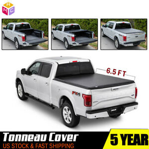 Roll Up Truck Tonneau Cover For 2007 2018 Gmc Sierra pickup 6 5ft Short Bed
