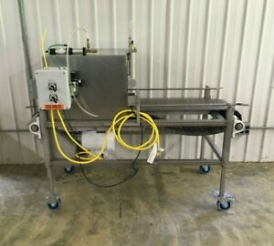Portable Belt Conveyor System With Photoeye Castors 12 Wide 120 Volts