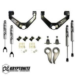 Kryptonite Stage 3 Leveling Kit With Fox Shocks 11 19 Chevy Gmc 2500hd 3500hd