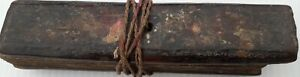 India Antique Interesting Small Taad Patra Palm Leaves Manuscript 35 Leaves