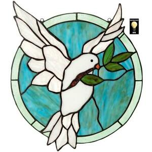 Design Toscano Dove Of Peace Tiffany Style Stained Glass Window