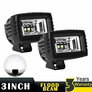 2x 3inch Cree Led Work Light Pods Off Road Driving Flood Lamp For Jeep Ford