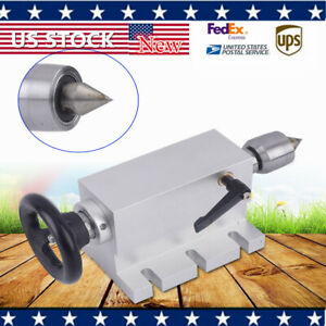 New 4th Axis Tailstock 65mm For Cnc Rotary Metalwork With Axial Locking Wrench