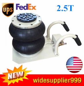 2 5 Ton Double Bag Air Jack Lifting Height 11 8 Pneumatic Jack 5500lbs Capacity