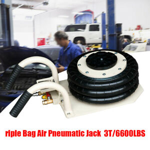 Quick Lift 3ton Pneumatic Air Jack With 3bags compressed Air Jack 2year Warrenty