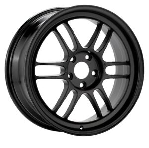 17x8 35 Enkei Rpf1 5x114 3 Black Rims Fits Veloster Mazda Speed 3