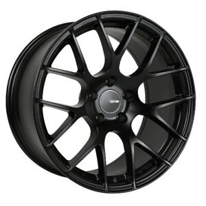 18x9 5 35 Enkei Raijin 5x114 3 Black Rims Fits Veloster Mazda Speed 3