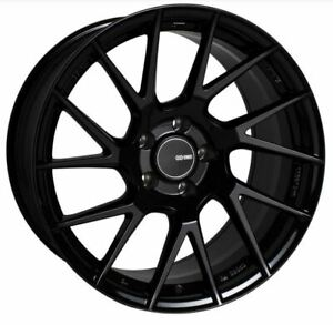 17x8 5x114 3 Enkei Rims Tm7 45 Black Rims Fits Veloster Mazda Speed 3