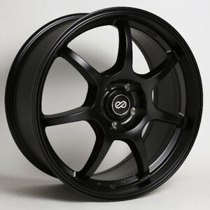 18x8 50 Enkei Gt7 5x114 3 Black Rims Fits Veloster Mazda Speed 3