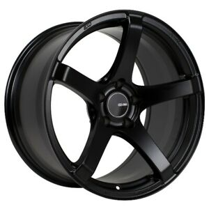 17x8 45 Enkei Kojin 5x114 3 Black Rims Fits Veloster Mazda Speed 3