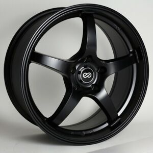 18x8 40 Enkei Vr5 5x114 3 Black Rims Fits Veloster Mazda Speed 3