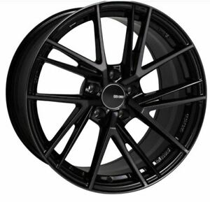 18x8 5x114 3 Enkei Rims Td5 45 Pearl Black Rims Fits Veloster Mazda Speed 3