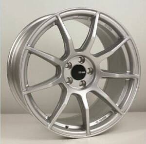 18x8 5 25 Enkei Ts9 5x114 3 Silver Rims Fits Veloster Mazda Speed 3