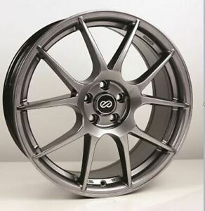 17x7 5 50 Enkei Ys5 5x114 3 Hyper Black Rims Fits Tc Xb Mazda Speed 3