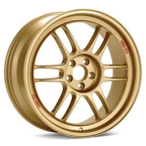 17x8 45 Enkei Rpf1 5x114 3 Gold Rims Fits Veloster Mazda Speed 3