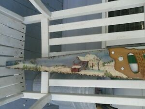 Vintage Hand Painted Disston Saw Country Or Farmhouse Decor