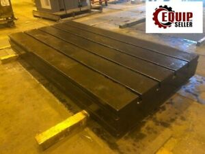 9in X 120in X 12in T Slotted Floor Plate Table Boring Mill Lathe Free Loading