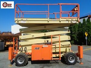 Jlg 500rts Rough Terrain Scissor Man Aerial Lift 50ft Diesel 4x4