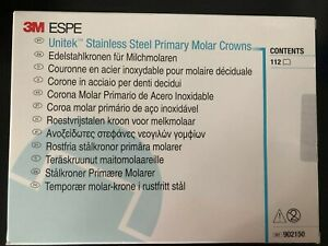 Espe Primary Molar Stainless Steel Crowns Kit Nd96 Assorted 112 kit