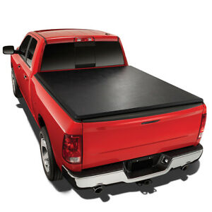 For 1993 2004 Ford Ranger Flareside 6 Ft Short Bed Soft Tri Fold Tonneau Cover