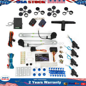 Electric 2door Power Window Conversion Kit Car Van Roll Up 4 Switches 12v New