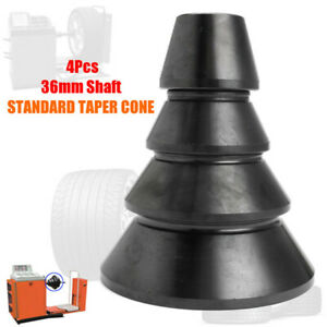 4pcs 36mm Shaft Wheel Balancer Standard Taper Cone Accuturn Coat Carbon Steel