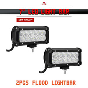 2x 7inch 36w Led Work Lights Bull Bar Driving Pods For Bike Truck Off Road Ch38j