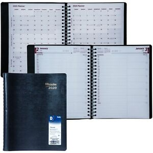 2020 Brownline Cb965 blk Daily Planner Appointment Book 8 1 2 X 11