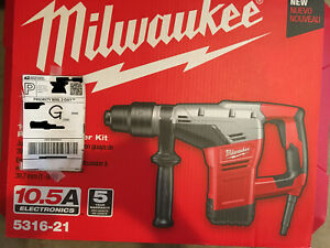 Milwaukee 5316 21 1 9 16in Spline Rotary Hammer With Case brand New f shipping