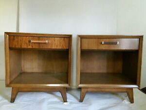 Pair Portrait By Drexel End Tables Vintage Mid Century Modern