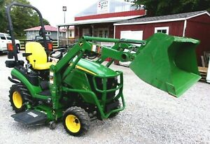 2014 John Deere 1025r With 54 Mower Deck Loader shipping 1 85 Mile