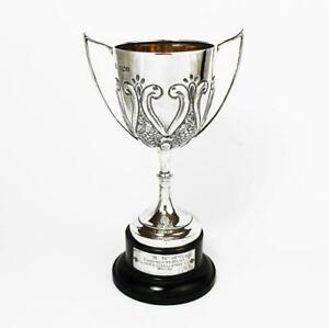Fine Sterling Silver Trophy Cup Sheffield 1921 Snm Engineers Mess