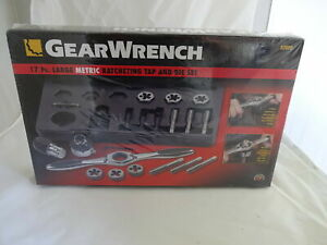 Gear Wrench 17 Pc Large Ratcheting Tap Die Set 89809 New