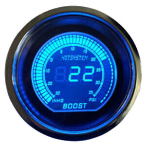 2 Digital Evo Gauge Boost Vacuum Turbo Meter Blue Red Smoke Led Psi Us Shipping
