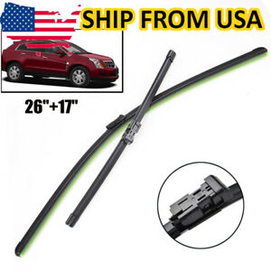 Pair Front Windshield Wiper Blades Set For Cadillac Srx 2010 2016 26 17