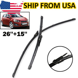 2pcs Front Windshield Wiper Blades Set For Chevrolet Aveo Sonic Mk2 2012 2013 14