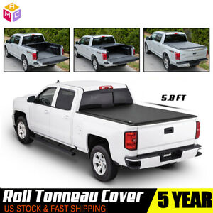 For 2007 2013 Chevy Silverado 1500 2500 5 8 Ft Roll Up Truck Tonneau Bed Cover