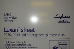 Lexan Polycarbonate Sheet 1 4 X 24 X 48 Clear