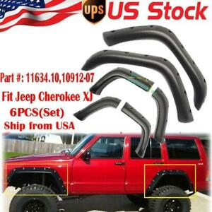 8x Off Road Look Fender Flares For Jeep Cherokee Xj 4dr Sport Utility 1984 1996