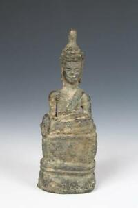 Antique Bronze Laos Village Buddha