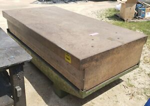 Large Granite Table plate On Metal Stand 96 X 48 X 32