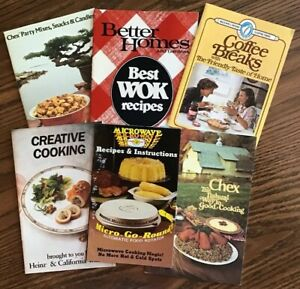 VINTAGE - 6 ASSORTED - ADVERTISING RECIPE BOOKLETS Chex  Wok  Maxwell Coffee